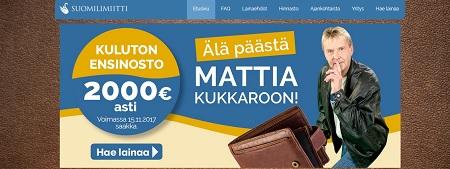Suomilimiitti kuluton ensinosto nyt peräti kahteen tuhanteen saakka